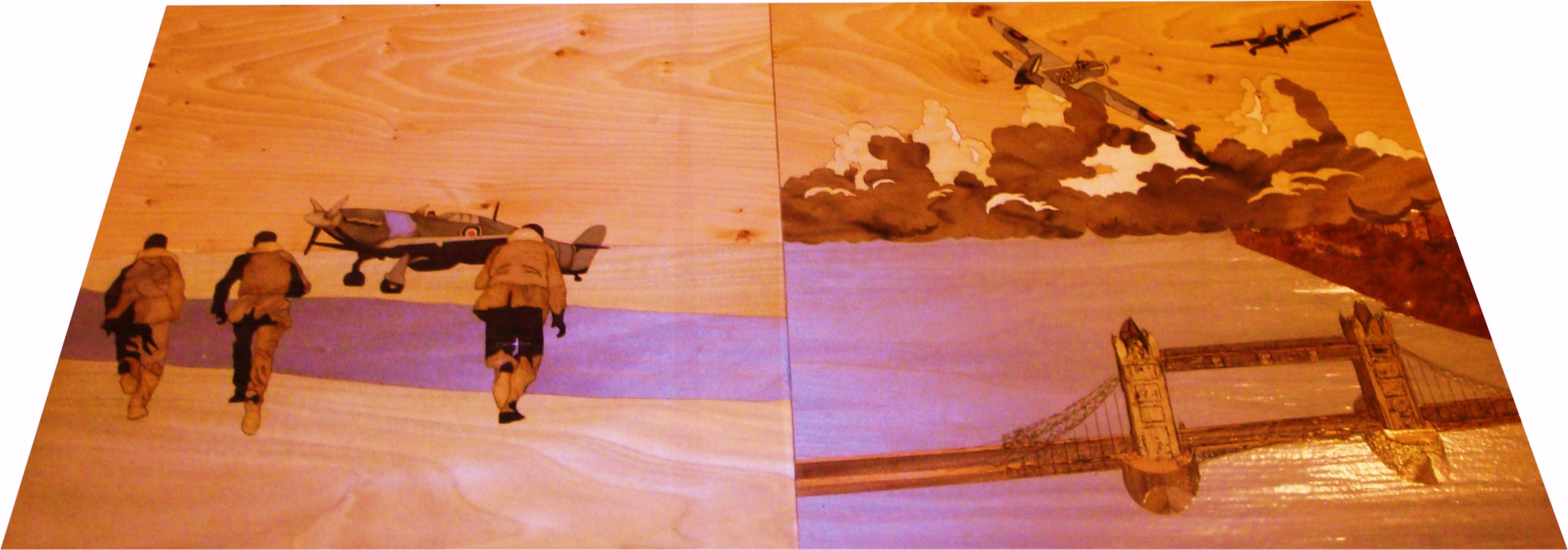 panels designed with a Battle of Britain theme June 2010 (unfinished panels)