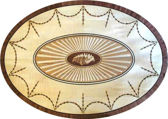 Marquetry Coffee Table Top