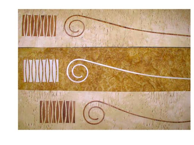 Deco freize marquetry faux ivory