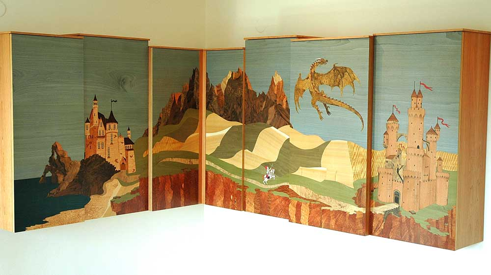 marquetry doors for wardrobes