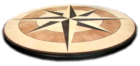 yacht marquetry table