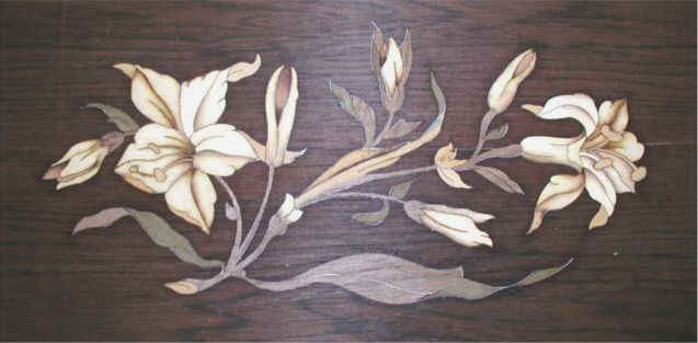 Music Box Marquetry Lid