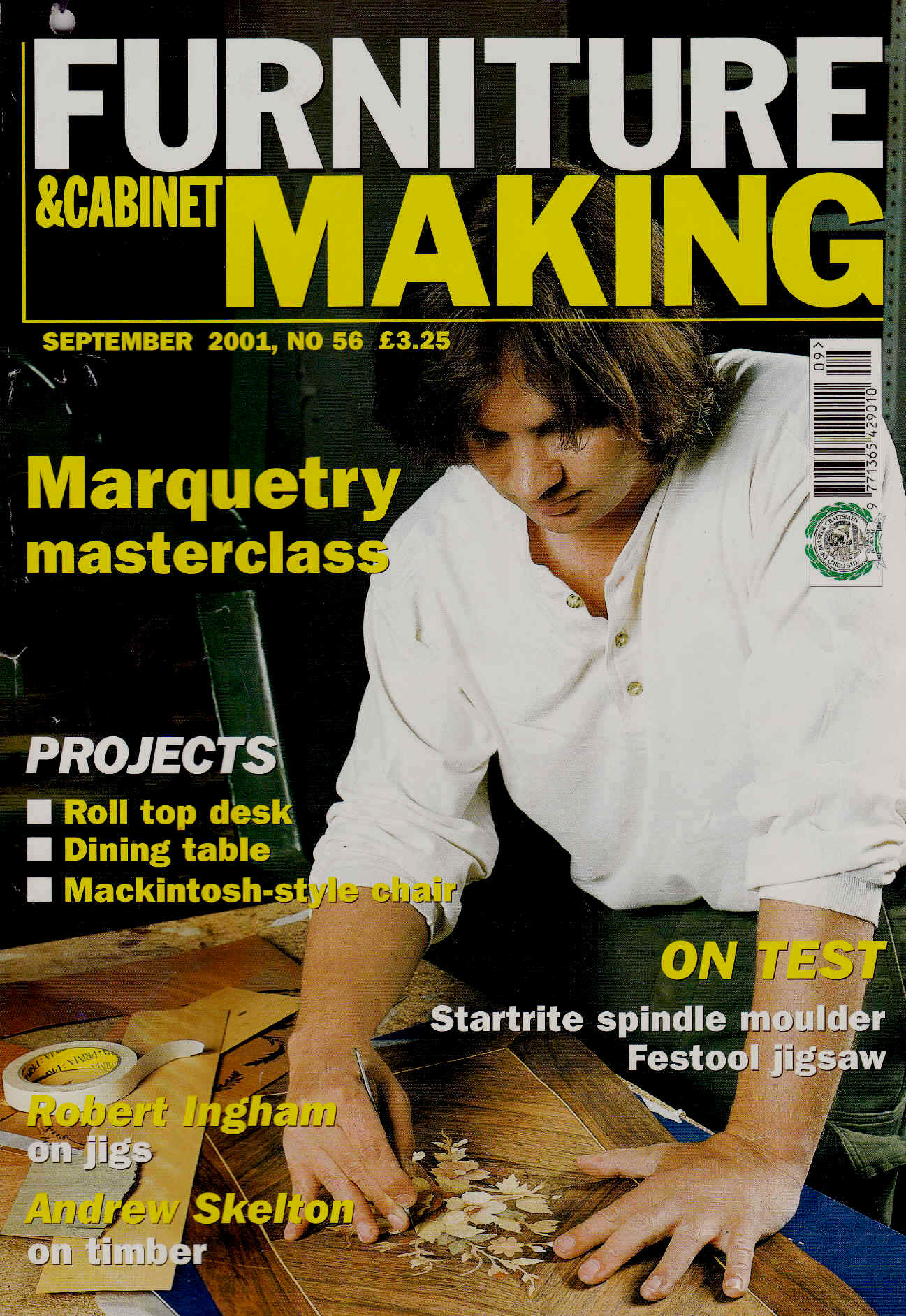 Joe features on the front cover of Furniture Making